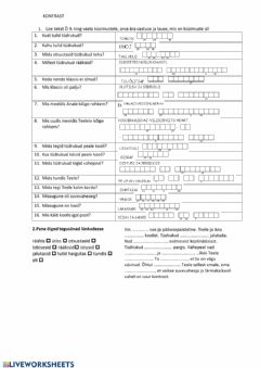 Interactive worksheet Kontrast. 5.kl