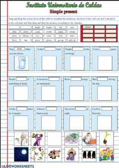 Interactive worksheet Simple present -Third person singular forms-