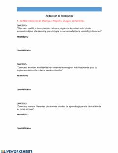 Interactive worksheet Hoja de Ejercicio 2