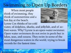 Ficha interactiva Swimming to Open Up Borders
