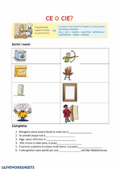 Interactive worksheet Ce o cie