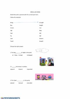Interactive worksheet Irregular Verbs Practice