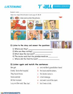 Interactive worksheet In the hospital
