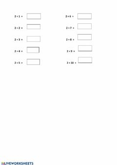 Interactive worksheet Addition with 2