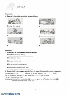 Interactive worksheet Modal verbs Must - Have to
