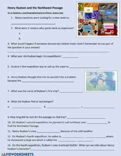 Interactive worksheet Hudson and Northwest Passage
