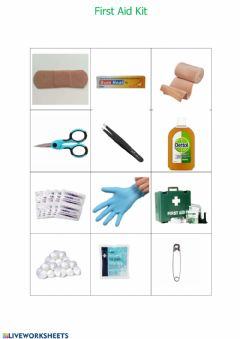 Interactive worksheet First Aid Kit