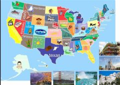 Interactive worksheet US sights (planning a road trip)