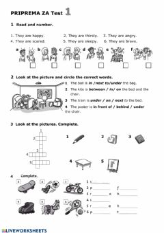 Interactive worksheet Test 1