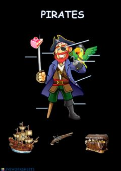 Ficha interactiva Pirates - vocabulary