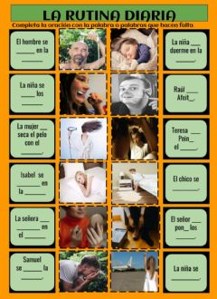 Interactive worksheet La rutina diaria