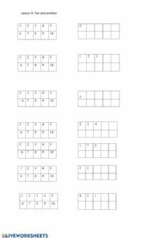 Ficha interactiva 10 addition - set 4