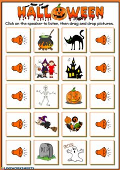 Ficha interactiva Halloween vocabulary