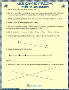 Interactive worksheet Geometrja