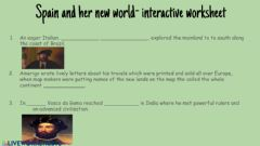 Interactive worksheet Spain and her new world