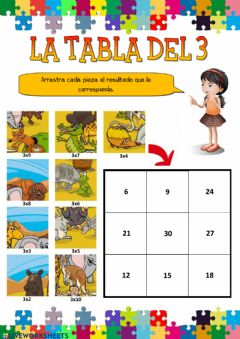 Interactive worksheet La tabla del 3