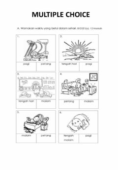 Interactive worksheet Masa dan Waktu