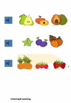 Interactive worksheet Fruits pronouce