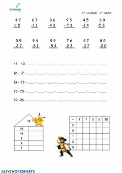 Interactive worksheet Tema 2.3 primaria 2