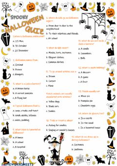 Ficha interactiva Halloween Quiz