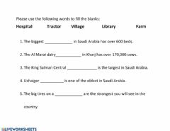Interactive worksheet City and Country