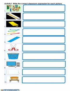 Interactive worksheet Reading Activity: Classroom Language