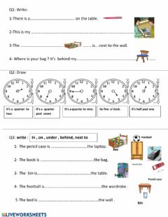 Interactive worksheet Review - unit 1 and 2 third grade