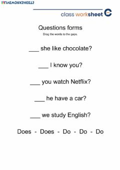 Interactive worksheet Question forms do-does