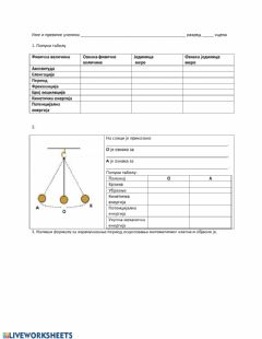 Interactive worksheet Oscilacije probni test