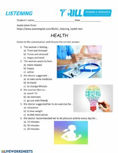 Interactive worksheet Health