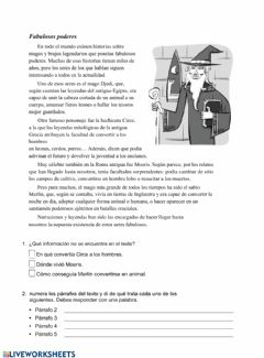 Interactive worksheet Los magos