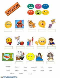 Interactive worksheet Emotions