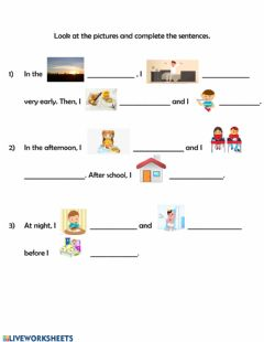 Interactive worksheet Complete the sentences