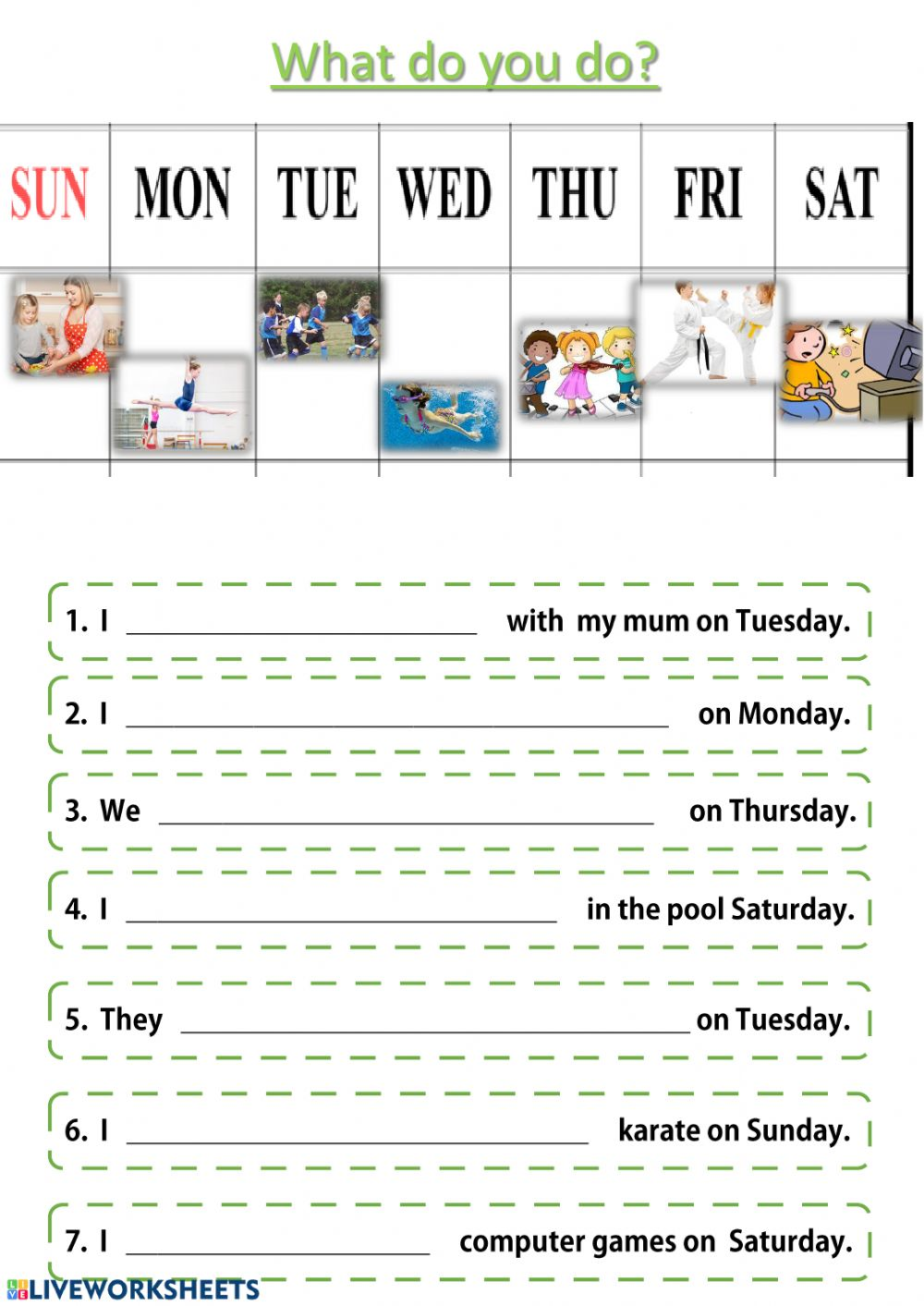 After school activities: Leisure activities worksheet