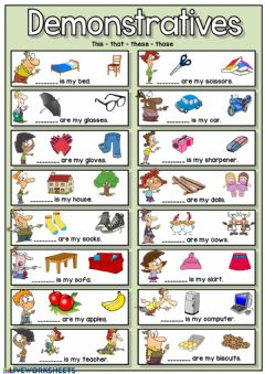 Ficha interactiva Demonstratives