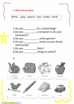 Interactive worksheet 3 primary unit 1