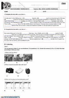 Interactive worksheet Review unit one