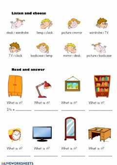 Interactive worksheet Furniture-2