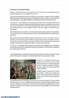 Interactive worksheet Roman Empire