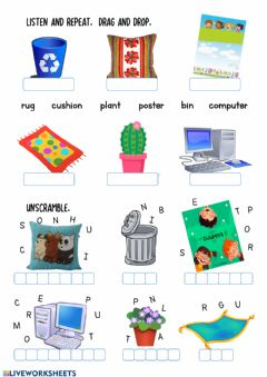 Interactive worksheet Furniture-3