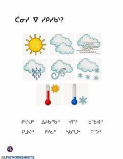 Interactive worksheet How is the Weather Today? Cree Syllabics