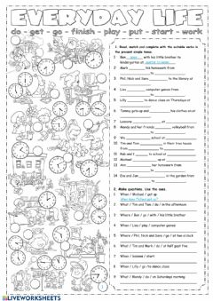 Interactive worksheet Everyday life