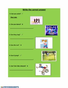 Interactive worksheet Can - short answers