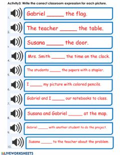 Interactive worksheet Listening: Simple Present Tense Verbs