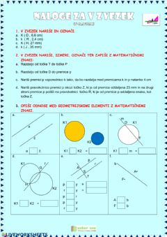 Interactive worksheet Geometrije