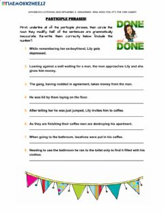 Interactive worksheet Easter break