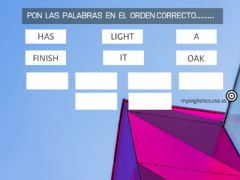 Ficha interactiva Word scramble exercise