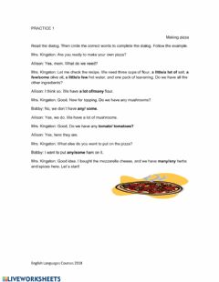 Quantifiers worksheet preview