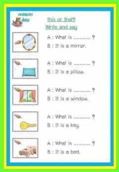 Interactive worksheet This and that