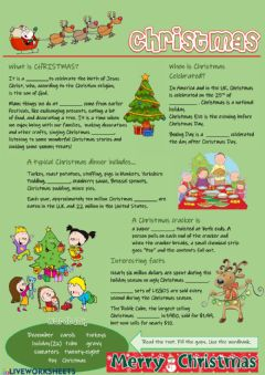 Interactive worksheet Christmas